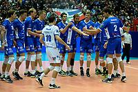 GRONINGEN - Volleybal, Abiant Lycurgus - Luboteni, voorronde Champions League, seizoen 2017-2018, 26-10-2017 Lycurgus maakt zich klaar voor de wedstrijd