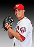 25 February 2011: J.D. Martin poses for his Washington Nationals Photo Day portrait at Space Coast Stadium in Viera, Florida. Mandatory Credit: Ed Wolfstein Photo