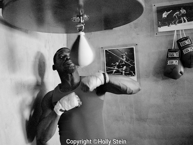 Marlon Starling training at Outlaw Gym in Los Angeles.