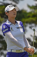 Sung Hyun Park (KOR) watches her tee shot on 3 during round 3 of the 2018 KPMG Women's PGA Championship, Kemper Lakes Golf Club, at Kildeer, Illinois, USA. 6/30/2018.<br /> Picture: Golffile | Ken Murray<br /> <br /> All photo usage must carry mandatory copyright credit (&copy; Golffile | Ken Murray)