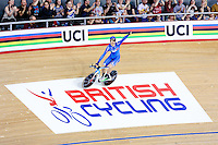 Picture by Charlie Forgham-Bailey/SWpix.com - 04/03/2016 - Cycling - 2016 UCI Track Cycling World Championships, Day 3 - Lee Valley VeloPark, London, England - Filippo Ganna of Italy winning gold in the Men's Individual Pursuit