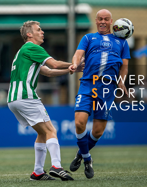 KCC Veterans vs HKFC Chairman's Select during their Masters Plate Final match as part of day three of the HKFC Citibank Soccer Sevens 2015 on May 31, 2015 at the Hong Kong Football Club in Hong Kong, China. Photo by Xaume Olleros / Power Sport Images