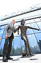 Belfast, County Antrim, Northern Ireland, 22th May, 2019 - Pat Jennings former Northern Ireland footballer gathered at the Olympia Leisure Centre in Belfast for the unveiling of a bronze statue of the late George Best, on what would have been the football legend's 73rd Birthday.  Paul McErlane