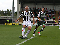 Jim Goodwin in the St Mirren v Hibernian Clydesdale Bank Scottish Premier League match played at St Mirren Park, Paisley on 18.8.12.