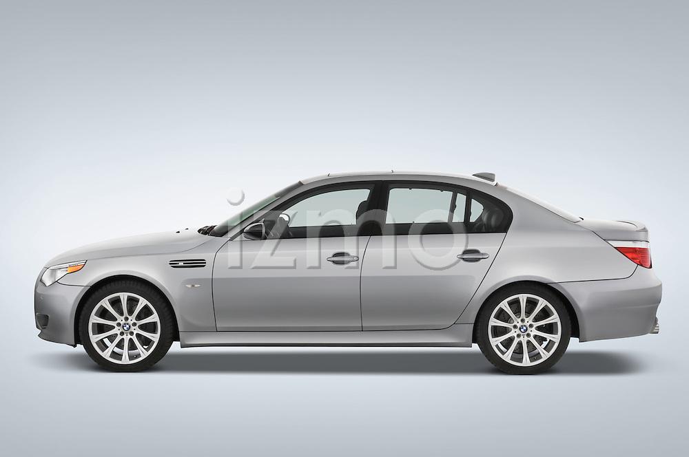 Driver side profile view of a 2008 BMW M5 Sedan