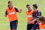 MADRID (25/05/09).- The Spanish Soccer national training session. Sergio Ramos, Mata and David Villa. ..PHOTO: Cesar Cebolla / ALFAQUI
