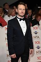 Matthew Wolfenden<br /> arriving for the National TV Awards 2020 at the O2 Arena, London.<br /> <br /> ©Ash Knotek  D3550 28/01/2020