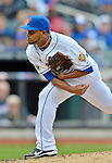 11 April 2012: New York Mets pitcher Ramon Ramirez on the mound against the Washington Nationals at Citi Field in Flushing, New York. The Nationals shut out the Mets 4-0 to take the rubber match of their 3-game series. Mandatory Credit: Ed Wolfstein Photo