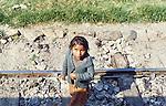 Poor Beggar girl, Peru