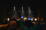 Montell Jordan sings on stage at Victory World Church at the start of a Saturday evening service in Norcross, Georgia April 13, 2013.