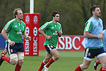 British & Irish Lions training session.Conor Murray taking part in the Lions first training session in Wales alongside Alun Wyn Jones..Vale Resort.15.05.13.©Steve Pope