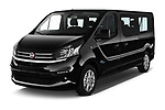 2018 Fiat Talento-Combi Panorama Door Passenger Van Angular Front stock photos of front three quarter view