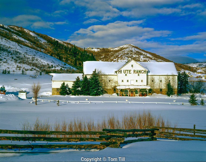 Barn at High Ute Ranch, Park City, Utah, Wastach Mountains