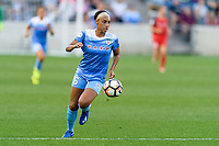 Bridgeview, IL - Saturday August 12, 2017: Samantha Johnson during a regular season National Women's Soccer League (NWSL) match between the Chicago Red Stars and the Portland Thorns FC at Toyota Park. Portland won 3-2.
