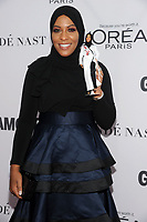 BROOKLYN, NY - NOVEMBER 13: Ibtihaj Muhammad  at Glamour's 2017 Women Of The Year Awards at the Kings Theater in Brooklyn, New York City on November 13, 2017. <br /> CAP/MPI/JP<br /> &copy;JP/MPI/Capital Pictures