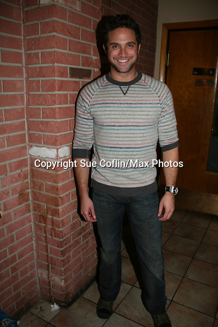 Brandon Barash - General Hospital - appeared by way of Coastal Entertainment on December 6, 2009 at Uncle Vinny's/Ferrera's Cafe in Point Pleasant, New Jersey. They sang for the fans, answered questions, signed photos and posed for photos. (Photos by Sue Coflin/Max Photos)