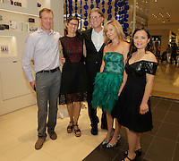 Chris Peck, Sherry Hoffman, Todd Erlandson, Lara Hoad and Summer Vaughn attend the Tadashi Shoji South Coast Plaza Re-Opening Celebration on July 11, 2013. (Photo by Inae Bloom/Guest of a Guest)
