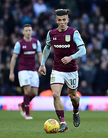 Jack Grealish of Aston Villa in action during the Sky Bet Championship match between Aston Villa and Birmingham City at Villa Park, Birmingham, England on 11 February 2018. Photo by Bradley Collyer/PRiME Media Images.
