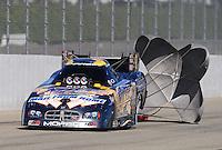 Nov 14, 2010; Pomona, CA, USA; NHRA funny car driver Jack Beckman during the Auto Club Finals at Auto Club Raceway at Pomona. Mandatory Credit: Mark J. Rebilas-