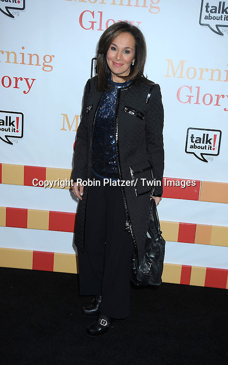 """Rosanna Scotto attending the World Premiere of """" Morning Glory"""" starring Harrison Ford, Diane Keaton and Rachel McAdams on November 7, 2010 at The Ziegfeld Theatre in New York City."""