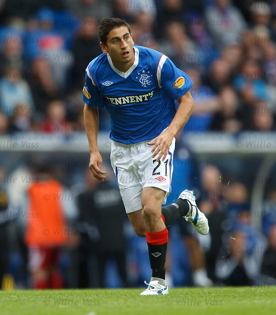 Alejandro Bedoya on his debut for Rangers
