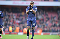Issa Diop of West Ham United At the Final Whistle Applause Fan's during Arsenal vs West Ham United, Premier League Football at the Emirates Stadium on 7th March 2020