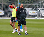 Chris Wilder and Jake Wright during the training session at the Shirecliffe Training complex, Sheffield. Picture date: June 27th 2017. Pic credit should read: Simon Bellis/Sportimage