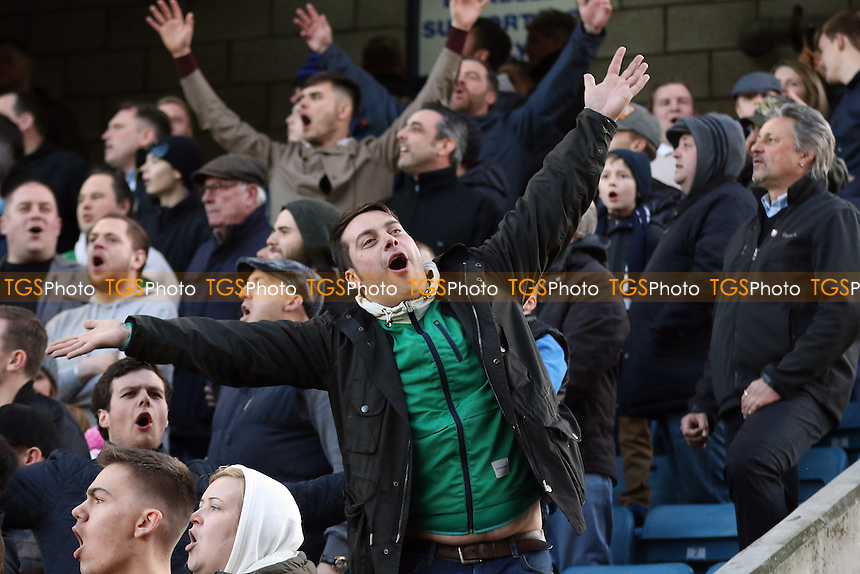 Millwall fans taunt the Leicester supporters at the end of the match during Millwall vs Leicester City, Emirates FA Cup Football at The Den on 18th February 2017