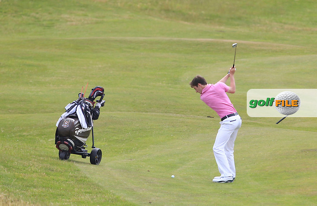 Patrick Brennan (Belvoir Park) on the 12th tee during Round 2 of the Ulster Boys Championship at Castlerock Golf Club on Wednesday 1st July 2015.<br /> Picture:  Golffile | Thos Caffrey
