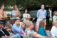 "People gather to listen to poetry outside the Mary Norton Clapp Library during the Kick-Off event for ""The Big Read: Robinson Jeffers and the Ecologies of Poetry"" at Occidental College on October 1, 2009. A Robinson Jeffers exhibit was also unveiled and a bobcat from the Wildlife Waystation was also at the event. Jeffers was a graduate of the class of 1905. (Photo by Marc Campos, College Photographer, Copyright Occidental College 2009)"