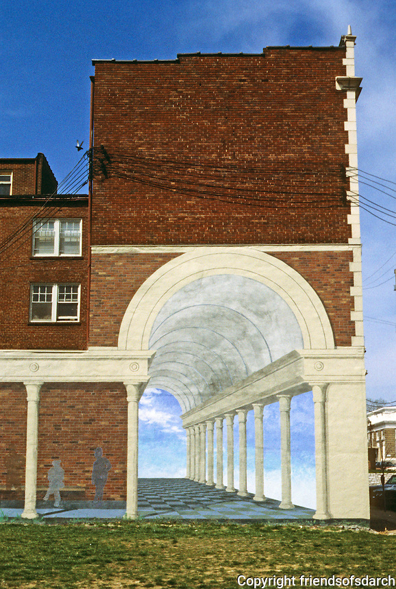 St. Louis: University City Loop--mural on building.