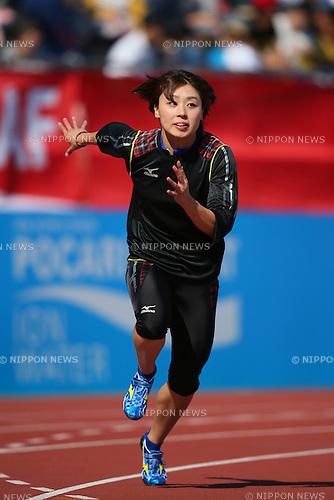 Kana Ichikawa (JPN-A), <br /> MAY 11, 2014 - Athletics : <br /> IAAF World Challenge <br /> Seiko Golden Grand Prix 2014 Tokyo <br /> Women's 4100mR Final <br /> at National Stadium, Kanagawa, Japan. <br /> (Photo by YUTAKA/AFLO SPORT)