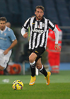 Claudio Marchisio    in action during the Italian Serie A soccer match between   SS Lazio and FC Juventus   at Olimpico  stadium in Rome , November 22, 2014