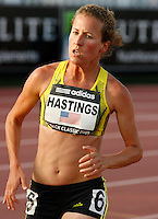 Amy Hastings during the 5000m run where she ran 15:5987 at the Adidas Track Classic on Saturday May 16, 2009. Errol Anderson,The Sporting Image.net