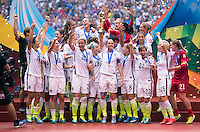 Vancouver, Canada - July 5, 2015:  The USWNT defeated Japan 5-2 during the FIFA Women's World Cup final at BC Place.