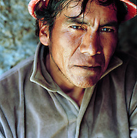 Portrait of a miner at the Potosi Mine, Potosi, Eastern Cordillera, Bolivia