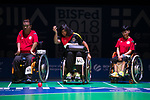 Anita Raguwaran (GER)<br /> BC4 Bronze Medal Match<br /> Germany v Hong Kong<br /> BISFed 2018 World Boccia Championships <br /> Exhibition Centre Liverpool<br /> 18.08.18<br /> ©Steve Pope<br /> Sportingwales
