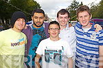 Pictured at the Battle of the Bands on Saturday for the Rose of Tralee, from left: Owias Gohar, Ahsan Memon, Ethan Cronin, David Counihan, Fergus Dennehy.
