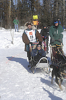 Zoya DeNure Anchorage Start Iditarod 2008.