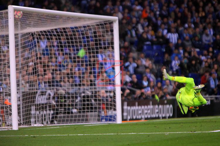 League Santander 2016/2017. Game: 35.<br /> RCD Espanyol vs FC Barcelona: 0-3.<br /> Diego Lopez.