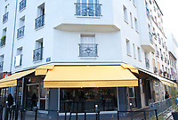 November 13 2017, PARIS FRANCE<br /> the President of France Emmanuel Macron<br /> honors the victims of the 13 november 2015<br /> in the scenes of attacks. Le Petit Cambodge<br /> restaurant, the place of attacks. # HOMMAGE AUX VICTIMES DES ATTENTATS DU 13 NOVEMBRE 2015