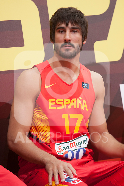 Dani Diez during the official presentation of Spain´s basketball team for the 2014 Spain Basketball Championship in Madrid, Spain. July 24, 2014. (ALTERPHOTOS/Victor Blanco)