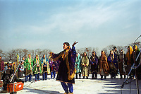 Cultural celebration of 26th January (Republic day of India) at Srinagar stadium. Kashmir valley, India