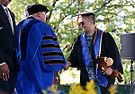 Western Nevada College President Vincent Solis congratulates graduate Christian Villeda during the 2019 commencement ceremony, in Carson City, Nev., on Monday, May 20, 2019. <br /> Photo by Cathleen Allison/Nevada Momentum