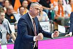 04.06.2019, RASTA Dome 2.0, VECHTA, GER, easycredit-bbl, PlayOff 02 HF, RASTA Vechta vs  FC Bayern Muenchen, im Bild<br /> <br /> Velibor Radović / Radovic (Trainer Bayern Muenchen BBL)<br /> Gestik, Mimik, Jubel ballt die Faeuste<br /> <br /> Foto © nordphoto / Kokenge