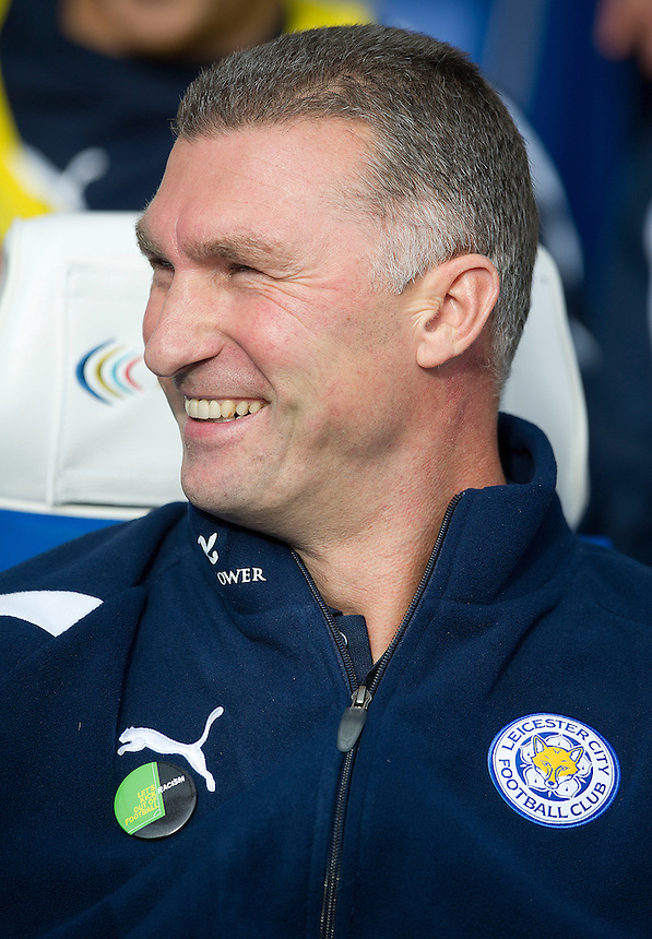 Leicester City's Manager Nigel Pearson sees his side go top of the league with a 1-1 draw..Football - npower Football League Championship - Birmingham City v Leicester City - Saturday 20th October 2012 - St Andrews - Birmingham..