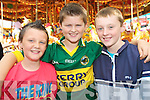 Dylan Costello, Darragh O'Sullivan and Damien Cronin enjoying the Gathering day of Puck Fair in Killorglin on Tuesday evening.