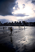 People of various age groups come to spend time on Chowpatty beach in Mumbai.