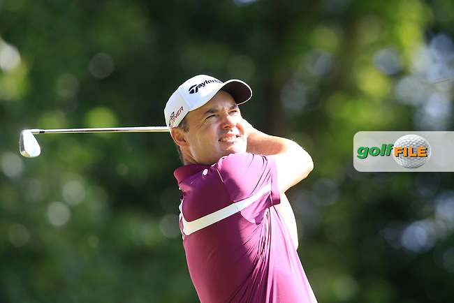 Simon KHAN (ENG) during round 1 of the 2015 BMW PGA Championship over the West Course at Wentworth, Virgina Water, London. 21/05/2015<br /> Picture Fran Caffrey, www.golffile.ie: