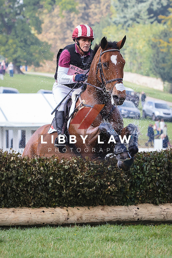 NZL-Blyth Tait (BEAR NECESSITY V) INTERIM-28TH: CCI3* CROSS COUNTRY: 2015 GBR-Blenheim Palace International Horse Trial (Saturday 19 September) CREDIT: Libby Law COPYRIGHT: LIBBY LAW PHOTOGRAPHY